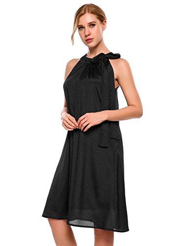 Meaneor Damen elegant Chiffonkleid Cocktailkleid Sommerkleid Abendkleid  festlich A-Linie Ärmellos knielang S-XXL aada0c131c