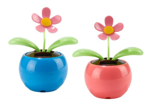 Bee Happy Dancing Solar Flower, Set of 2 by efuture