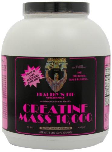 Healthy 'n Fit Creatine Mass 10000 5-pound Bottle Chocolate,  Tub