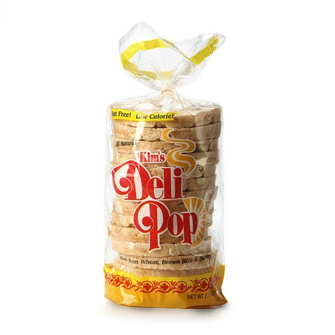 Kim's Deli Pop 12 Packs : freshly popped grain snack with a wholesome blend of wheat, brown rice & corn made for today's health-conscious consumers