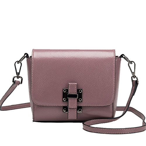 Mokeneye Cow Leather Flap Casual Crossbody Bag Genuine Leather Shoulder Bag Saddle Bag 17011 (Saddle Flap Handbag)
