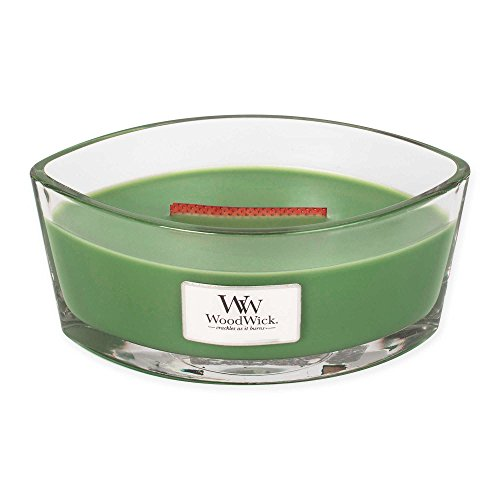 Evergreen WoodWick New Collection HearthWick Flame Large Oval Jar Scented Candle - 16 - Juniper Bath Herbal Spruce