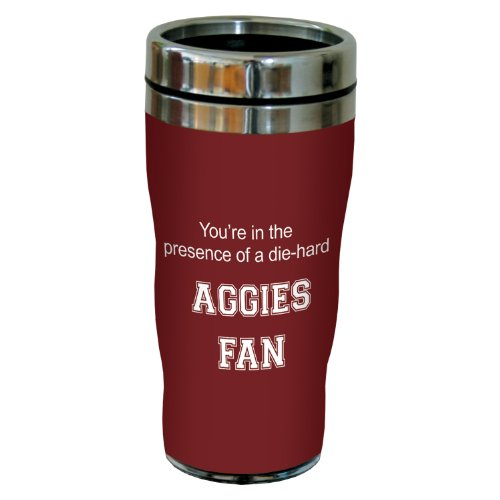 Texas A&m Acrylic (Tree-Free Greetings sg24576 Aggies College Football Fan Sip 'N Go Stainless Steel Lined Travel Tumbler, 16-Ounce)
