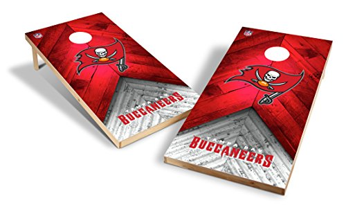 (Wild Sports NFL 2'x4' Tampa Bay Buccaneers Cornhole Set)