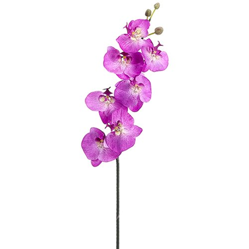 44'' Handwrapped Silk Phalaenopsis Orchid Flower Spray -Orchid (pack of 4) by SilksAreForever