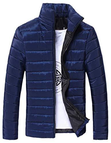 Di Solido Blu Caldo Cappotto Del Del Colore Basamento Uomini Inverno Della Zip Piumino Sicurezza Navy Collare wE6q1z4In