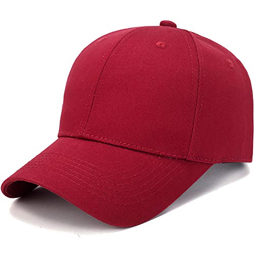 Unisex Polo Baseball Hat,Crytech Cotton Classic Plain Adjustable Ballcap Low Profile Dad Cap Sun Visor Hat for Women Men Outdoor Running Cycling Hiking Golf (Red)