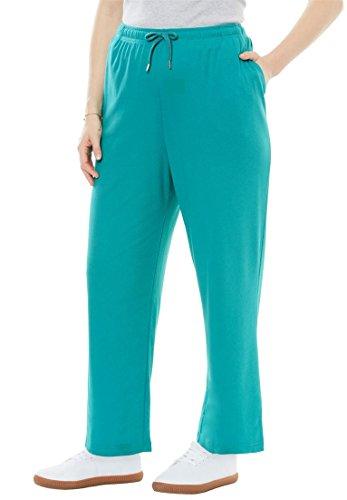 Woman Within Plus Size Sport Knit Straight Leg Pant