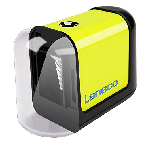 Battery Operated Electric pencil sharpener, Laneco Heavy Duty Helical Blade Pencil Sharpener for Classroom, Office, School, Kids, Teachers, Artists and Adults