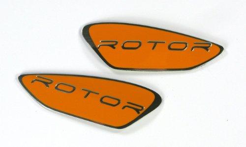 Dye Rotor Bottom Logo Jewels - Right & Left Included - Orange