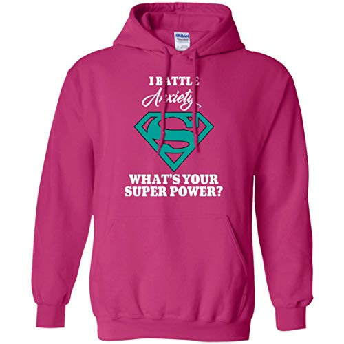Anxiety Awareness Hoodie Pullover Unisex I Battle Anxiety!