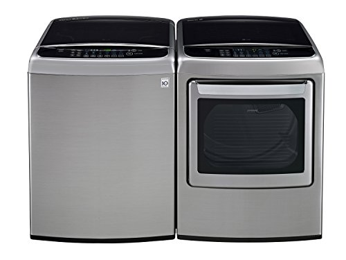 LG POWER PAIR SPECIAL-Mega Capacity High Efficiency Top Load Laundry System with Innovative Easy Load Dryer*Graphite Steel*WT1801HVA_DLEY1701VE) (Lg Front Loading Washer And Dryer compare prices)