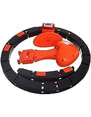 حلقة هولا هوب الذكية للياقة البدنية القابلة للتعديل - اسود برتقالي