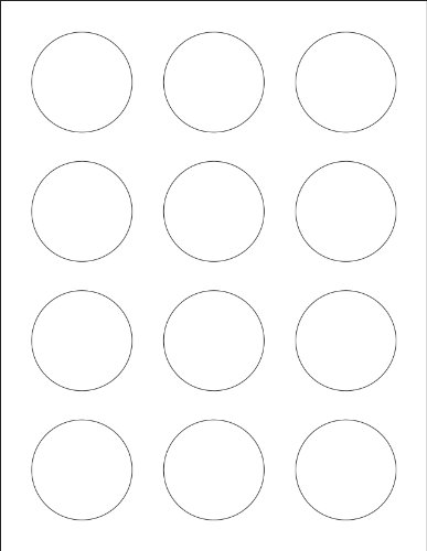 Ace Label 96000H Teacher Circle Label School Stickers for Laser and Inkjet Printer, 2-Inch, White, 25 Sheets Per Pack