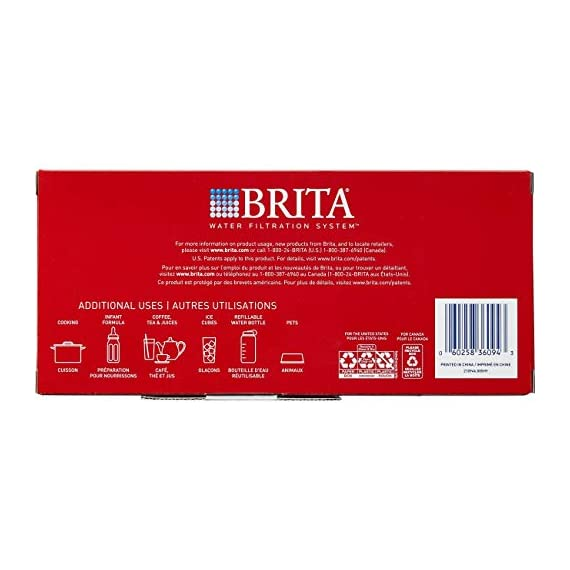 """Brita Small 5 Cup Metro Water Pitcher with Filter - BPA Free 13 SMALL WATER PITCHER: This small, plastic water filtration pitcher is easy to pour and refill. The space efficient pitcher fits perfectly on refrigerator shelves and is great for families. Height 9.8""""; Width 4.45""""; Length/Depth 9.37""""; Weight 1.39 pounds CLEANER AND GREAT TASTING: The BPA free Brita filter reduces chlorine (taste and odor), copper, mercury, zinc and cadmium impurities found in tap water for cleaner great tasting water. *Substances reduced may not be in all users' water FILTER CHANGE REMINDER: For optimum performance, a helpful status indicator on your filtered water pitcher notifies you when your water filter needs to be replaced"""