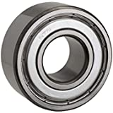 NTN Bearing 6206Z Single Row Deep Groove Radial Ball Bearing, Normal Clearance, Steel Cage, 30 mm Bore ID, 62 mm OD, 16 mm Width, Single Shielded