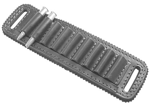 - vsdfvsdfv Cartridge Belt Slide Pistol Ammunition Carrier Leather (Black, 410 and 45 Caliber)