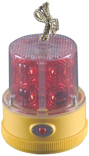 North American Signal PSLM2-R LED Personal Safety Warning Light with Magnetic Mount, Battery Operated, Red by North American Signal
