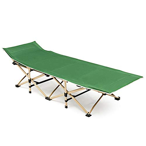 72' Folding Cot - Anya Nana Relax Seat Foldable Camping Bed Portable Bed w/Carrying Bag for Beach Patio Outdoor Travel Green AN1901