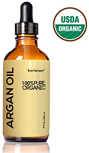 Organic ARGAN Oil - HUGE 4 OUNCE! - Naturally Rich in Anti-Aging VITAMIN E - 100% Pure (EcoCert, USDA) - Nothing Added or Taken Away - For NATURAL Face Moisturizing, Hair Treatment, Skin & Nail (Black Light Hairspray)
