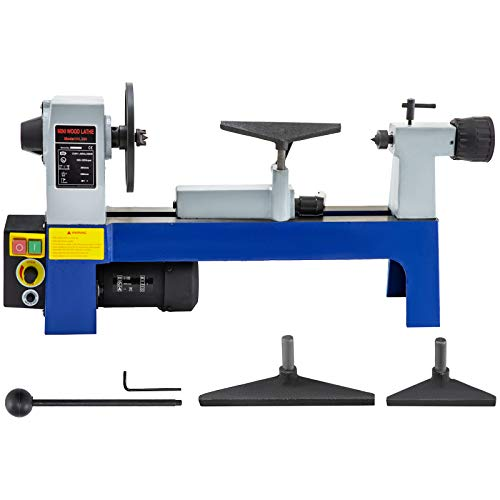 Mophorn 8 x 12 inch Variable Speed Benchtop Mini Wood Lathe & Variable Speed 500-3200RPM (8 x 12 inch)