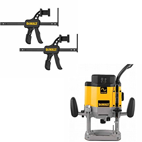 DeWalt DW625 Heavy-Duty 3 HP EVS Plunge Router with DWS5026 Track Clamps