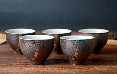 Hwagui - Best Chinese Ceramic Tea Cups Set Of 5 50ml/1.7oz ()
