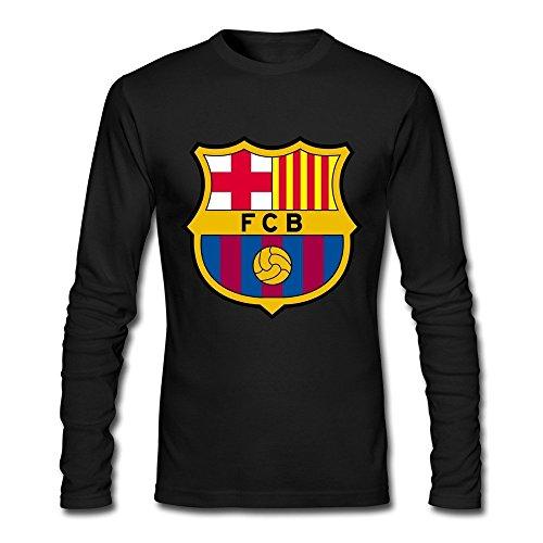 Adult Fc Barcelona 100% Cotton Long Sleeve T-Shirt Black XXL by Rahk (Pro Club T Shirts Xxl)