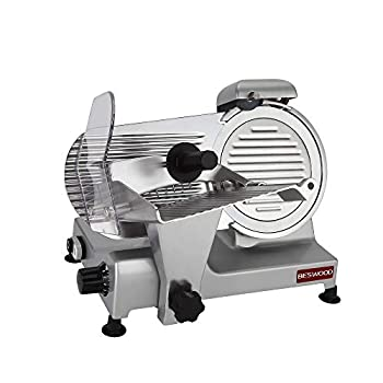 Image of BESWOOD 9' Premium Chromium-plated Carbon Steel Blade Electric Deli Meat Cheese Food Slicer Commercial and for Home Use 240W BESWOOD220 Home and Kitchen