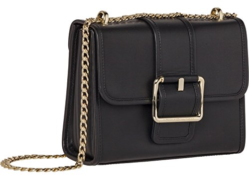 TOMMY HILFIGER Tommy Buckle Leather Crossover Black
