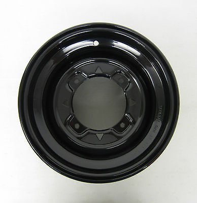 Polaris New OEM ATV Black Rear Rim 12x8 10 Gauge ()
