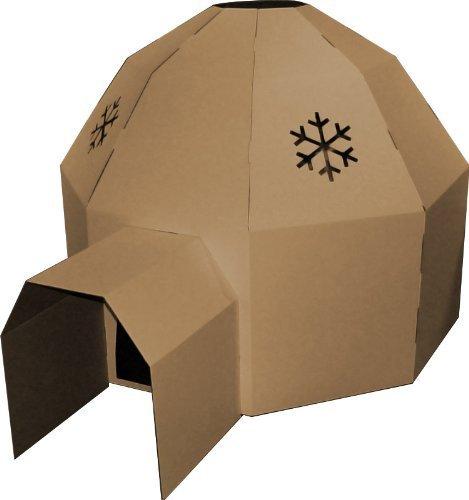 Kideco Cardboard Igloo Playhouse Toy(Brown) by Kideco