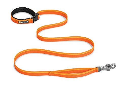 RUFFWEAR - Flat Out Hand-Held or Waist-Worn Dog Leash, Orange Sunset by RUFFWEAR