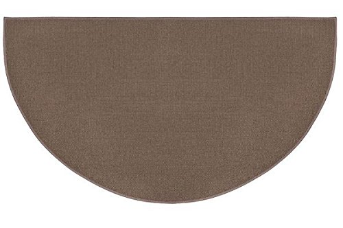- Woodeze 4' Half Round Brown Guardian Fireplace Rug
