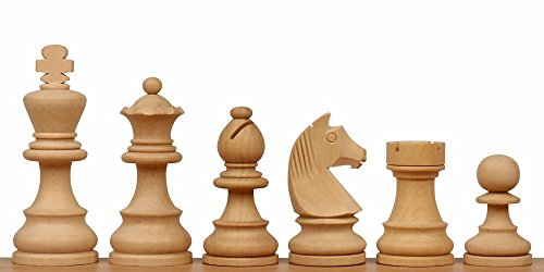 """Price comparison product image Unfinished German Knight Staunton Chess Set in Boxwood - 2.75"""" King"""