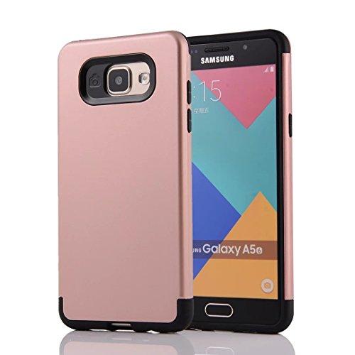 Tough Hybrid Dual Layer Case for Samsung Galaxy A510 A5 2016 (Gold) - 3