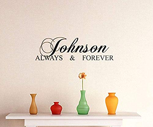 Home Art Quotes Johnson Always Forever DIY Removable Art Quote Home ation Wall Decals Mural Decor Vinyl Sticker -