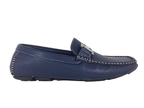 Enzo Romeo Payne03 Hommes Légers Mocassins De Conduite Légère Sur Les Chaussures De Mocassins Marine