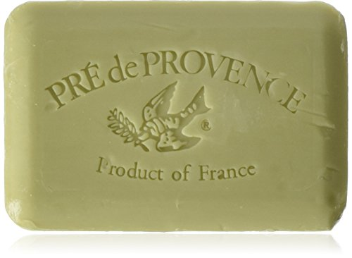 Provence Green Milled Soap - Pre de Provence Shea Butter Enriched Artisanal French Soap Bar (250 g) - Green Tea