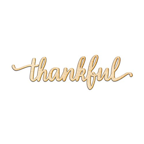 Distressed Sign (Thankful Script Wood Sign Home Decor Wall Art Unfinished Charlie 24