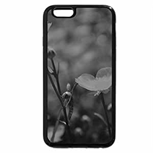 iPhone 6S Plus Case, iPhone 6 Plus Case (Black & White) - Wild yellow flowers