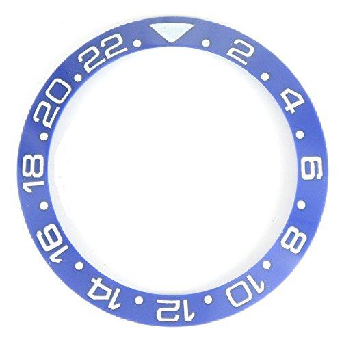 38.0MM Bezel Insert to Fit Rolex GMT - Blue/White Ceramic ()