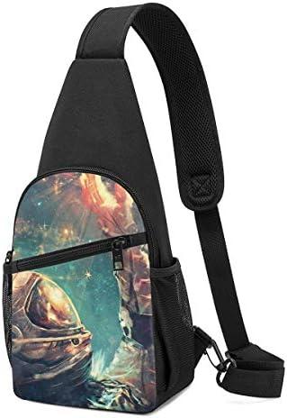 偉大な宇宙飛行士 斜め掛け ボディ肩掛け ショルダーバッグ ワンショルダーバッグ メンズ 多機能レジャーバックパック 軽量 大容量