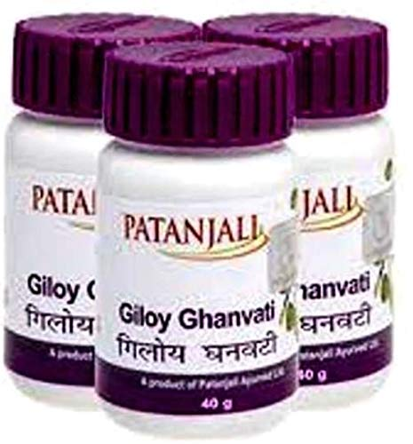 Patanjali Giloy Ghan Vati - 60 Tablets Pack of 3
