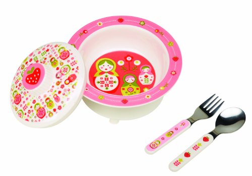 UPC 732389015800, Sugarbooger Covered Suction Bowl Gift Set, Matryoshka Doll