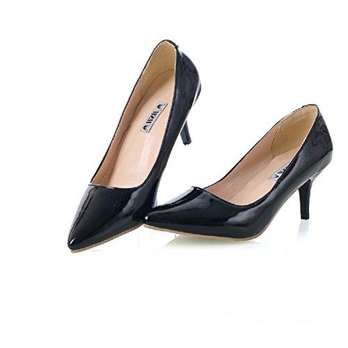Charm Foot Fashion Womens High Heel Stiletto Mary Jane Pump Dress Shoes Black M70xY6S4wq
