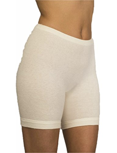 Con-ta Damen Angora - Schurwolle - Normalbein-Schlüpfer - warme Funktions-Unterwäsche nicht nur für den Winter Größe 38 - 52 Woll-Weiß - 805-0660