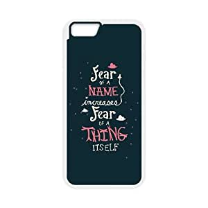 iPhone 6 4.7 Inch Cell Phone Case White quotes fear increases LSO7710682