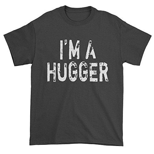 Black T-shirt Hugger (Expression Tees Mens I'm A Hugger Wrestling T-Shirt X-Large Black)