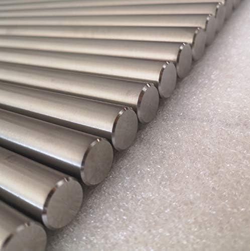 OLJF 2PCS Titanium Round Rod Alloy Rod Metal Bar for Laboratory Supplies Scientific Research Etc,8mmx500mm2pc